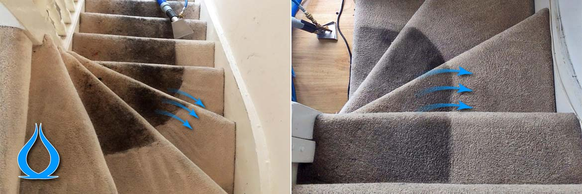Staircase Carpet Cleaning Before After